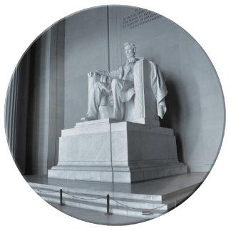 Het Gedenkteken van Lincoln in Washington DC Porseleinen Bordje