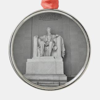 Het Gedenkteken van Lincoln in Washington DC Zilverkleurig Rond Ornament
