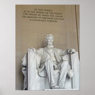 Het Gedenkteken van Lincoln Poster