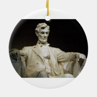 Het Gedenkteken van Lincoln Rond Keramisch Ornament