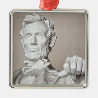Het Gedenkteken van Lincoln Zilverkleurig Vierkant Ornament