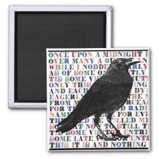 Het Gedicht Edgar Allan Poe van de raaf Magneet