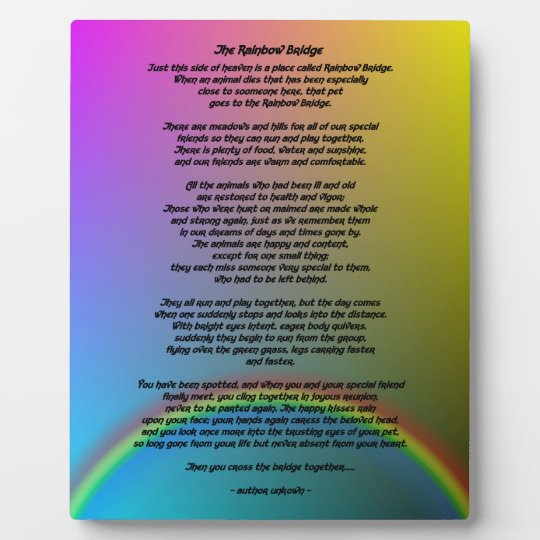 Het Gedicht Van De Brug Van De Regenboog Fotoplaat