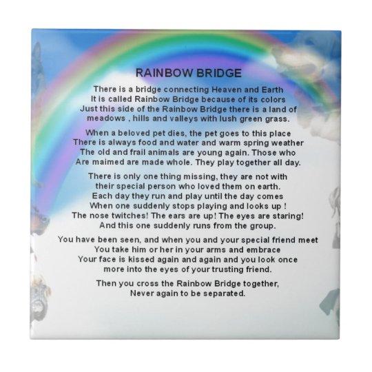 Het Gedicht Van De Brug Van De Regenboog Tegeltje