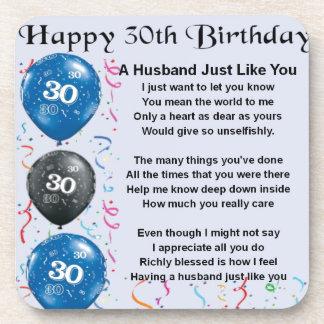 Het Gedicht van de echtgenoot - 30ste Verjaardag Bier Onderzetter