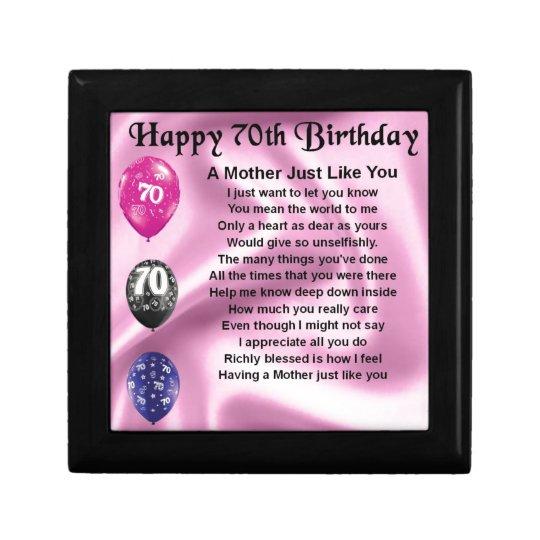 Het Gedicht Van De Moeder 70ste Verjaardag Cadeaudoosje