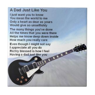 Het Gedicht van de papa - het Ontwerp van de Tegeltje