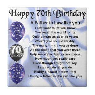 70ste Verjaardag Tegeltjes Zazzle Nl