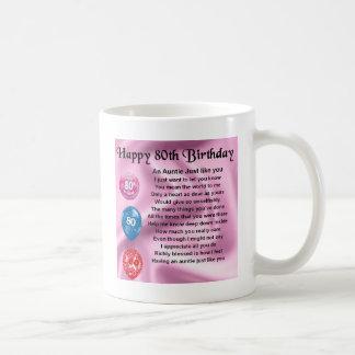 Het Gedicht van de tante - 80ste Verjaardag Koffiemok