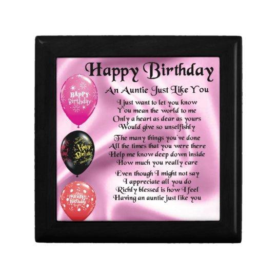 Het Gedicht Van De Tante Gelukkige Verjaardag Cadeaudoosje Zazzle Nl