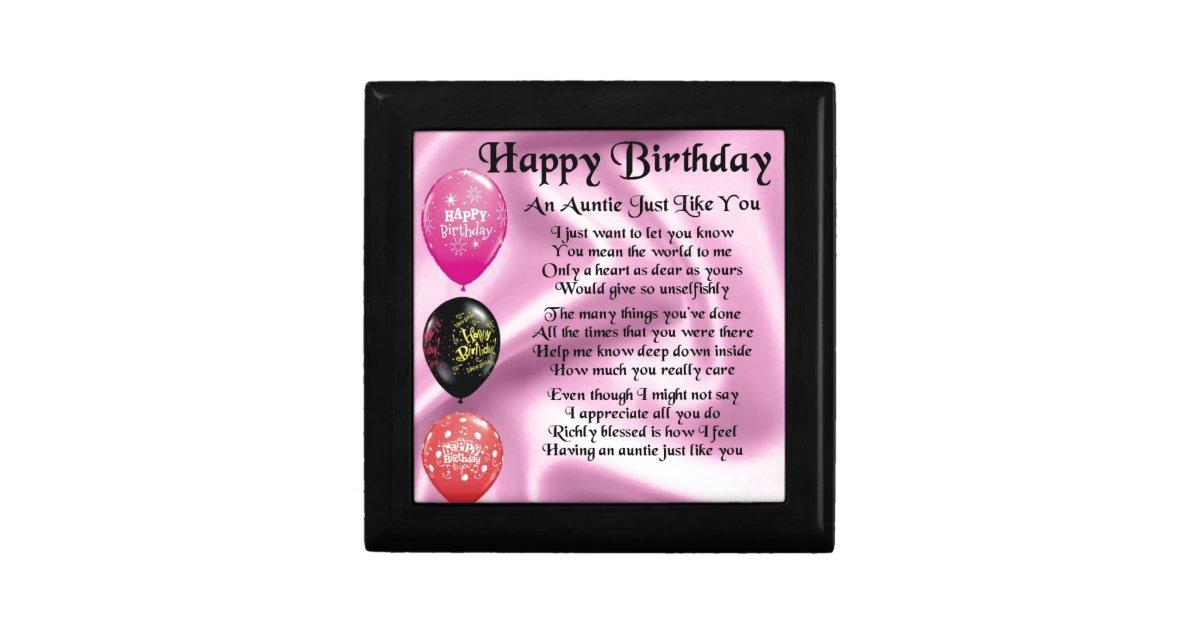 Uitgelezene Het Gedicht van de tante - Gelukkige Verjaardag Cadeaudoosje EL-45