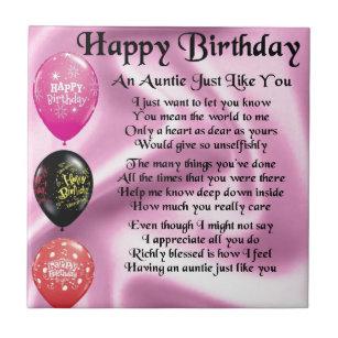 Tante Verjaardag Tegeltjes Zazzle Nl