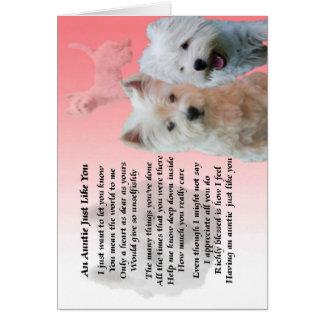 Het Gedicht van de tante - Westie Kaart