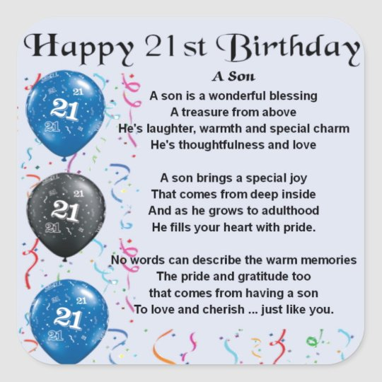 21 jaar verjaardag gedicht
