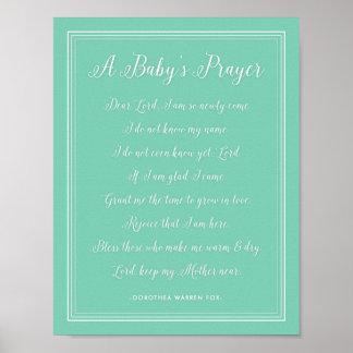 Het Gedicht van het Gebed van een Baby - de Poster