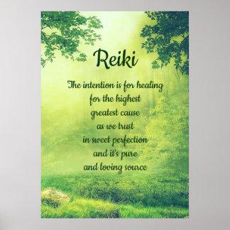 Het Gedicht van Reiki Poster