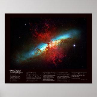 Het Gedicht van wensen - een Melkweg Starburst - Poster