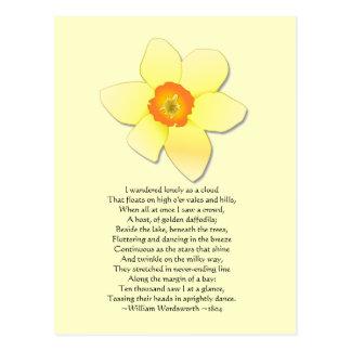 Het Gedicht Wordsworth van de gele narcis ~ Briefkaart