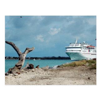 Het gedokte Schip van de Cruise Briefkaart