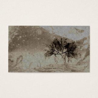 Het gedrukte Visitekaartje van Bladeren Visitekaartjes