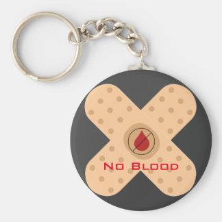 Het geen-Bloed Keychain van de ontwerper met Tekst Sleutelhanger
