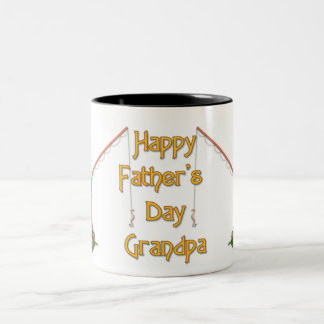 Het gegaane Vaderdag van de Visserij - Opa Tweekleurige Koffiemok