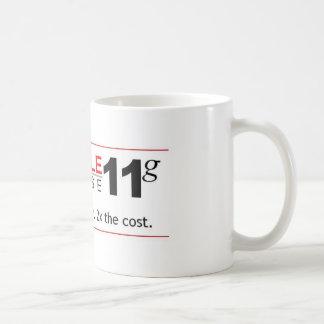 Het Gegevensbestand van de hindernis 11g Koffiemok
