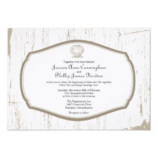 Het gegratineerde Huwelijk van het Strand van 12,7x17,8 Uitnodiging Kaart