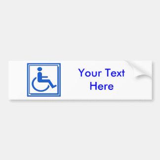 Het gehandicapte Modieuze Blauw van het Symbool Bumpersticker