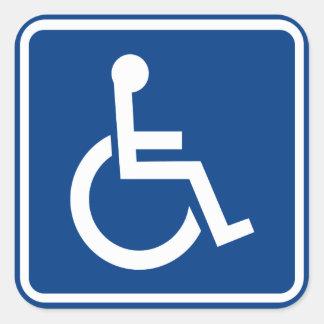 Het gehandicapte Toegankelijke Teken van de Vierkante Sticker