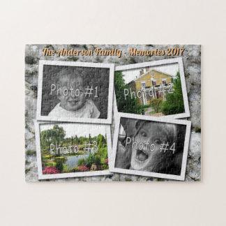 Het Geheugen van de familie 4 Foto's van de Douane Legpuzzel