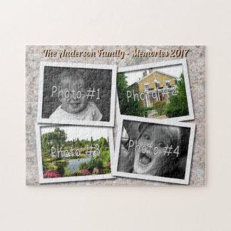 Het Geheugen van de familie 4 Foto's van de Douane Puzzel