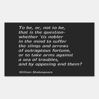 Het Gehucht ` van William Shakespeare ` s ` Rechthoekige Sticker