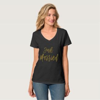 Het Gehuwde enkel Gouden Overhemd van de T Shirt