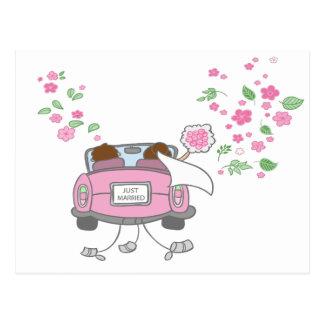 Het Gehuwde enkel Roze Briefkaart van de