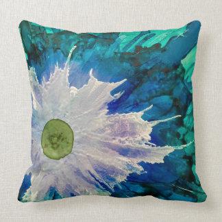 Het geïnkte bloemenblauw werpt hoofdkussen kussen