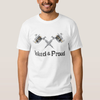 Het geïnkte en Trotse Pistool van het Tattoo T Shirts