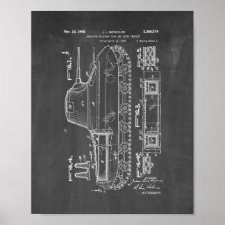 Het geïsoleerde Militaire Octrooi van de Tank - Poster