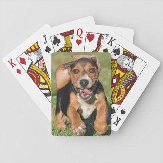 Het gekke Lopen van het Puppy van de Brak Pokerkaarten