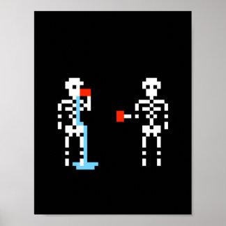 Het gekke Poster van het Skelet Spilly