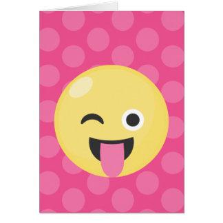 Het Gekke Stip van Emoji Wenskaart