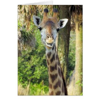 Het gekke Wenskaart van de Giraf