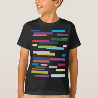 Het gekleurde Overhemd van het T-shirt van Strepen