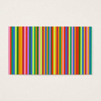 Het gekleurde visitekaartje van Strepen Visitekaartjes