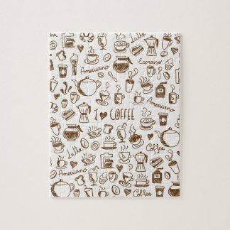 Het Gekrabbel van de koffie Foto Puzzels