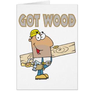 het gekregen houten grappige ontwerp van de briefkaarten 0