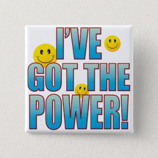 Het gekregen Leven B van de Macht Vierkante Button 5,1 Cm