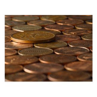 Het Geld van de Muntstukken van de Pence van de Briefkaart