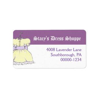 Het gele Adres van het van de Bedrijfs kleding Addressticker