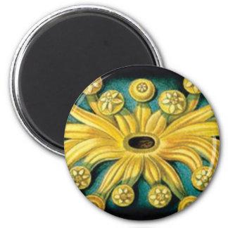 het gele art. van de bloemuitbarsting magneet